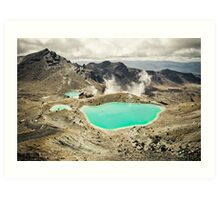The Emerald Lakes  Art Print