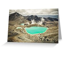 The Emerald Lakes  Greeting Card