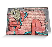 Abstract Graffiti Art Animal Greeting Card