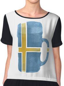 Sweden Beer Flag Chiffon Top
