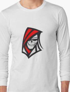 Death hooded sweatshirt creepy sunglasses Long Sleeve T-Shirt