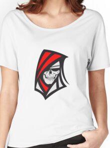 Death hooded sweatshirt creepy sunglasses Women's Relaxed Fit T-Shirt