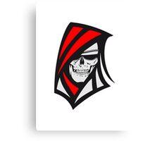 Death hooded sweatshirt creepy sunglasses Canvas Print