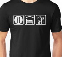 Funny Gambling Addict Eat Sleep Gamble Unisex T-Shirt