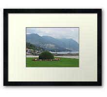 Lake Como View Framed Print