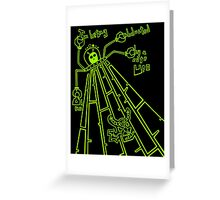 Cute UFO by Lolita Tequila Greeting Card
