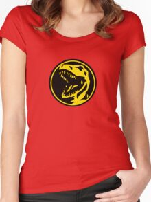 Mighty Morphin Power Rangers Red Ranger Symbol Women's Fitted Scoop T-Shirt