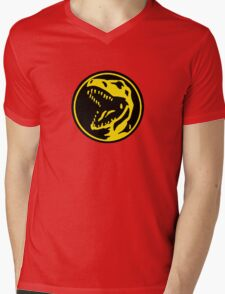 Mighty Morphin Power Rangers Red Ranger Symbol Mens V-Neck T-Shirt