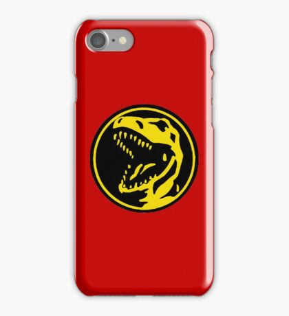 Mighty Morphin Power Rangers Red Ranger Symbol iPhone Case/Skin
