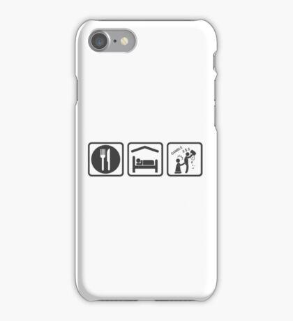 Gambling Problem Eat Sleep Gamble iPhone Case/Skin