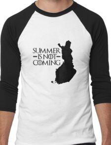 Summer is NOT coming - finland(black text) Men's Baseball ¾ T-Shirt