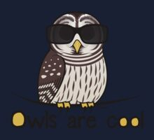 Owls are Cool by Birdorable Baby Tee