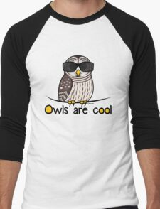 Owls are Cool by Birdorable Men's Baseball ¾ T-Shirt
