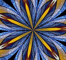 Stained Glass Kaleidoscope Mandala 1 by Rose Santuci-Sofranko