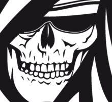 Death hooded sweatshirt creepy sunglasses Sticker