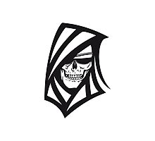 Death hooded sweatshirt creepy sunglasses Photographic Print