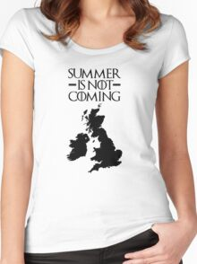 Summer is NOT coming - UK and Ireland(black text) Women's Fitted Scoop T-Shirt