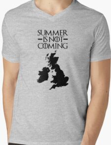 Summer is NOT coming - UK and Ireland(black text) Mens V-Neck T-Shirt