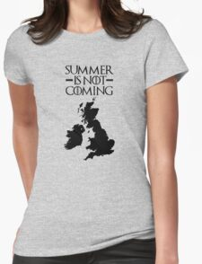 Summer is NOT coming - UK and Ireland(black text) Womens Fitted T-Shirt
