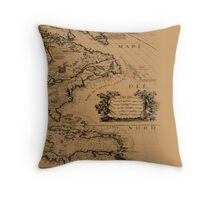 antique style map Throw Pillow