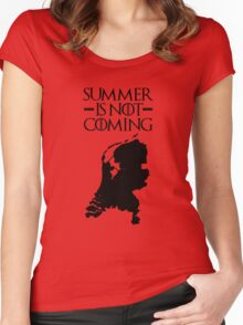 Summer is NOT coming - netherlands(black text) Women's Fitted Scoop T-Shirt