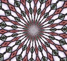 Stained Glass Kaleidoscope Mandala 2 by Rose Santuci-Sofranko