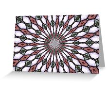 Stained Glass Kaleidoscope Mandala 2 Greeting Card