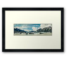 Tasman Glacier, New Zealand Framed Print