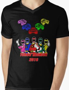 Turbo Reunion 2016 (Rangers and Zords) Mens V-Neck T-Shirt