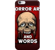 HORROR ART AND WORDS  iPhone Case/Skin