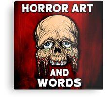 HORROR ART AND WORDS  Metal Print