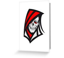 Death hooded sweatshirt grusel Greeting Card
