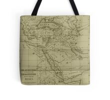 Old style world of moses map Tote Bag