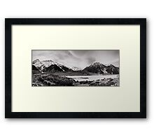 Monochrome Mountains  Framed Print