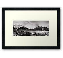 Monochrome Mountains  Framed Print