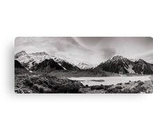 Monochrome Mountains  Canvas Print