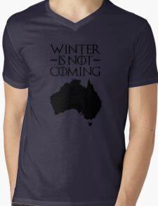 Winter is not Coming - australia(black text) Mens V-Neck T-Shirt