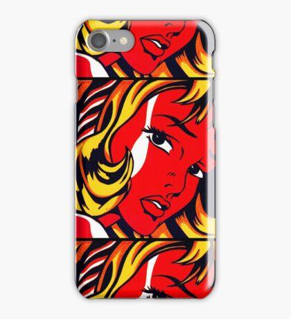 Lichtenstein - Girl with Hair Ribbon  iPhone Case/Skin