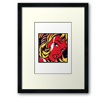 Lichtenstein - Girl with Hair Ribbon  Framed Print