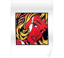 Lichtenstein - Girl with Hair Ribbon  Poster