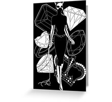 Catwoman with Jewels Greeting Card