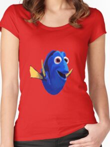 Finding Dory - Painted Design Women's Fitted Scoop T-Shirt