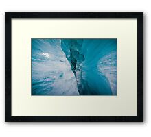 Blue Ice Cave Framed Print