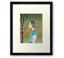 Earth Girl Framed Print