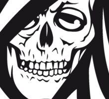 Death hooded sweatshirt grusel Sticker