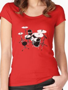 Drumkit (back view) Women's Fitted Scoop T-Shirt