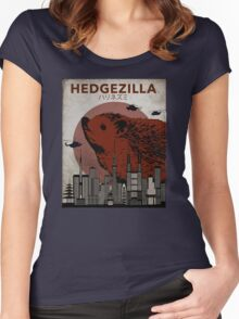 Rare Hedgezilla movie poster. Women's Fitted Scoop T-Shirt