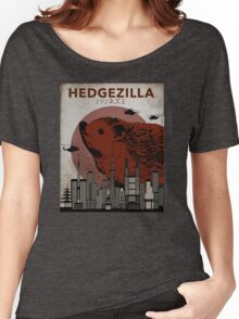 Rare Hedgezilla movie poster. Women's Relaxed Fit T-Shirt