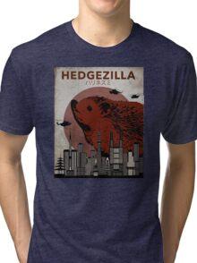 Rare Hedgezilla movie poster. Tri-blend T-Shirt