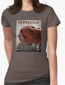 Rare Hedgezilla movie poster. Womens Fitted T-Shirt